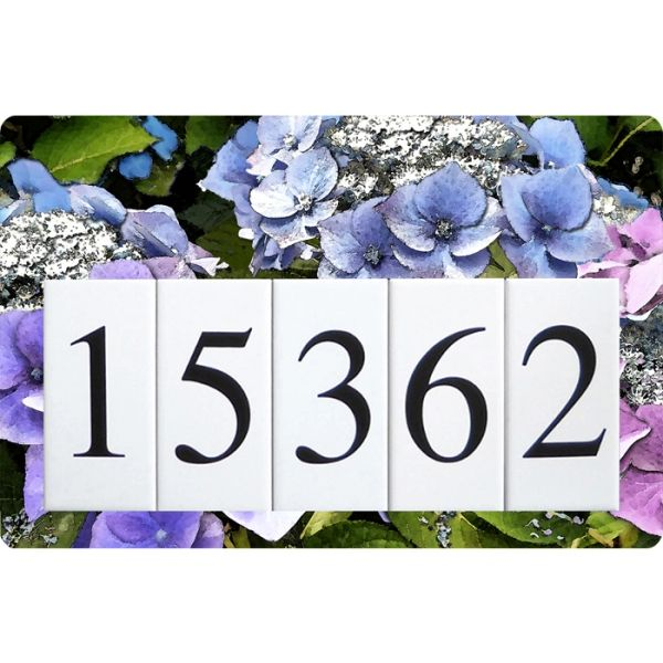 Hydrangea Address Sign Large