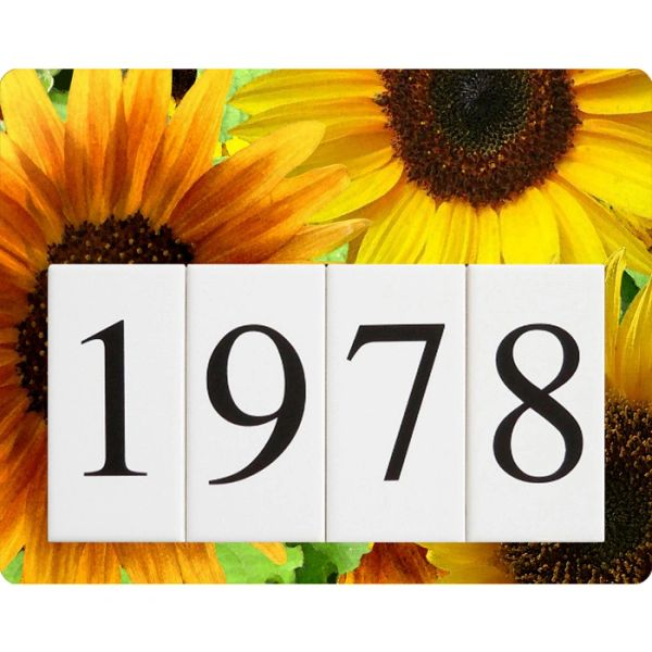 Sunflower Address Sign Small