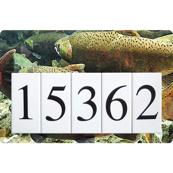 Fish Address Sign Large