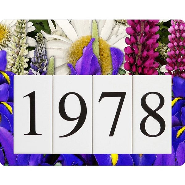 Iris Lupine Daisy Address Sign Small