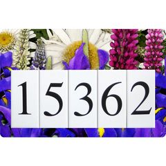 Iris Lupine Daisy Address Sign Large