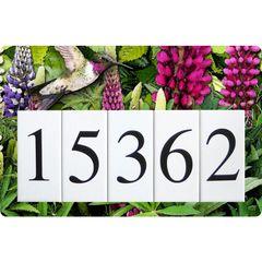 Lupine Hummingbird Humbird Address Sign Large