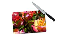 Roses Small Tempered Glass Cutting Board