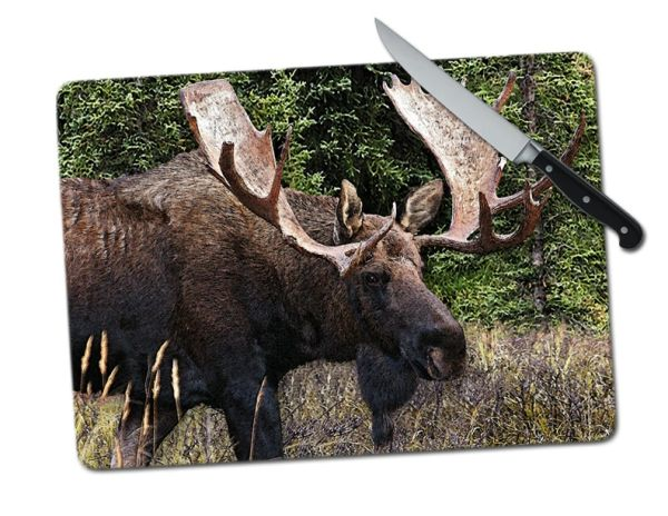 Moose Large Tempered Glass Cutting Board