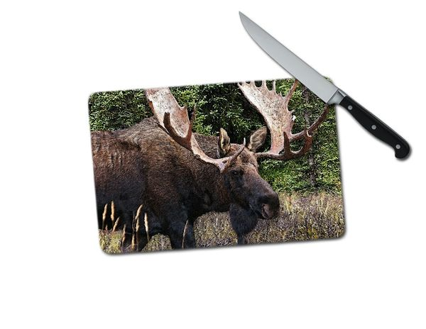 Moose Small Tempered Glass Cutting Board