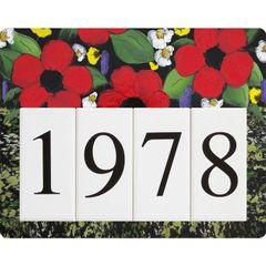 Poppy Address Sign Small