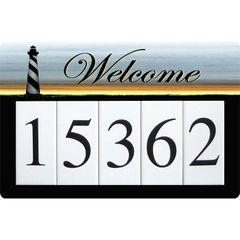 Lighthouse Address Sign Large