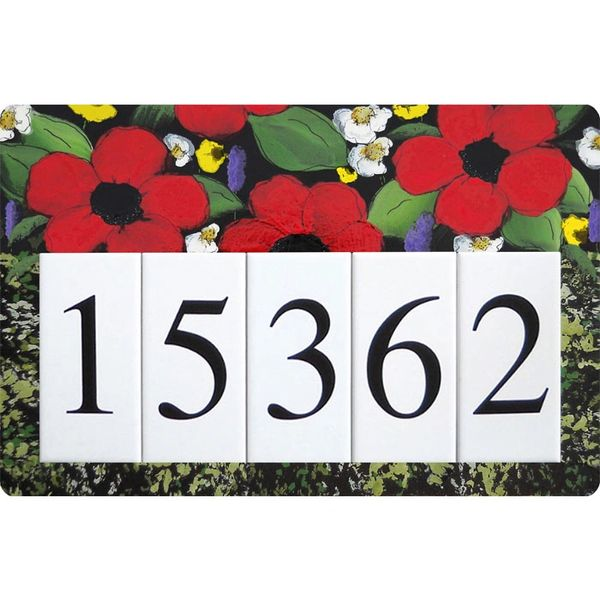 Poppy Address Sign Large