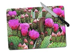Cactus Large Tempered Glass Cutting Board