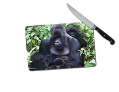 Gorillas Small Tempered Glass Cutting Board