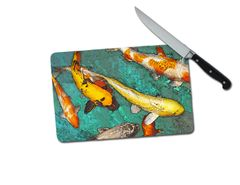 Koi Small Tempered Glass Cutting Board