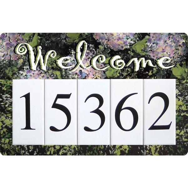 Hydrangea Welcome Address Sign Large