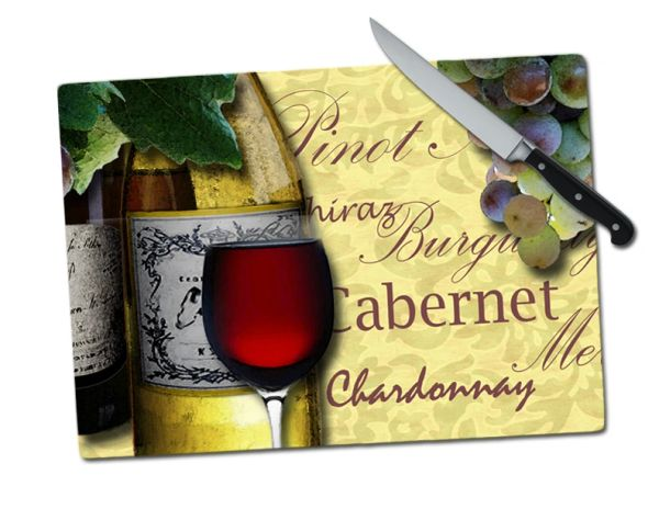 Wine Large Tempered Glass Cutting Board