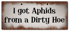 """Bayside Treasures Sign - 11.5"""" x 5"""" - Aphids"""