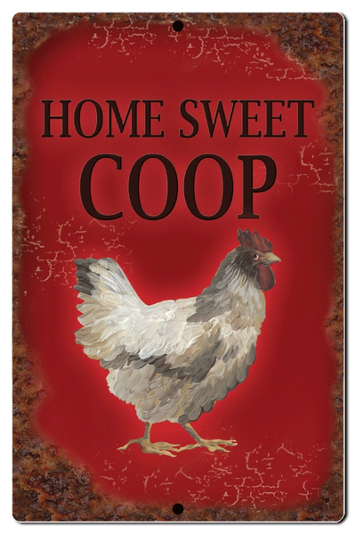 "Bayside Treasures Sign - Chickens - 7.5"" x 11.5"" - Home Sweet Coop"