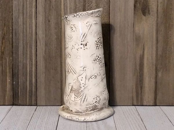 Hand Built Large Pottery Vase 7