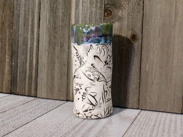 Hand Built Bloom Pottery Vase 2
