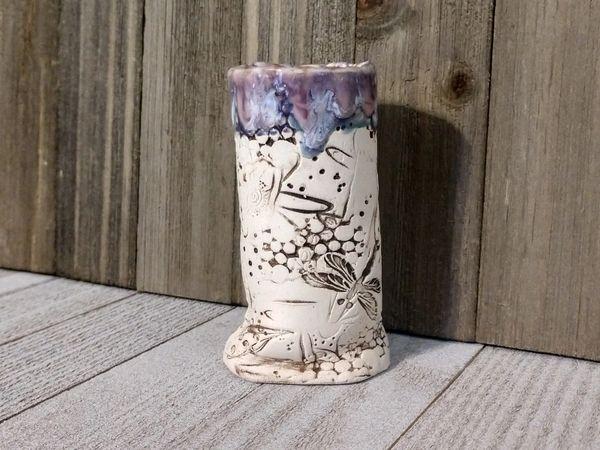 Hand Built Bloom Pottery Vase 3