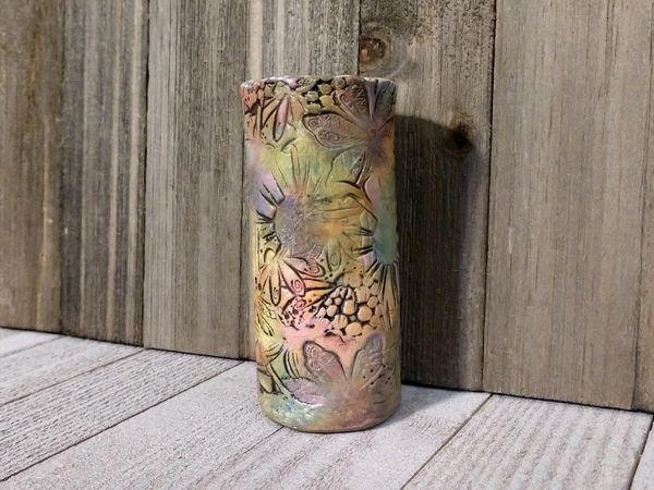 Hand Built Bloom Pottery Vase 4