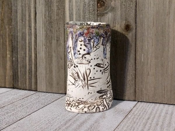 Hand Built Bloom Pottery Vase 5