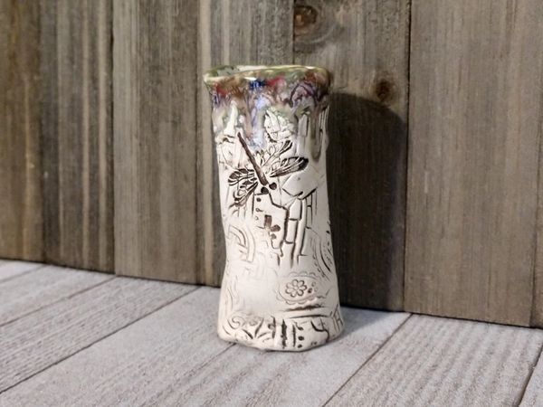 Hand Built Bloom Pottery Vase 6