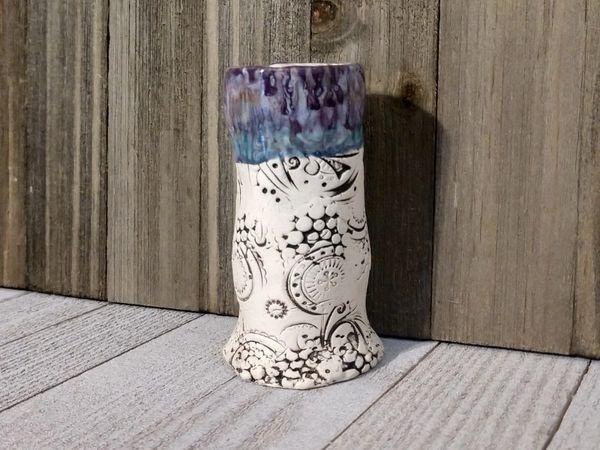Hand Built Bloom Pottery Vase 7