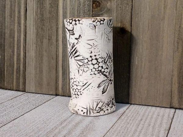 Hand Built Bloom Pottery Vase 8