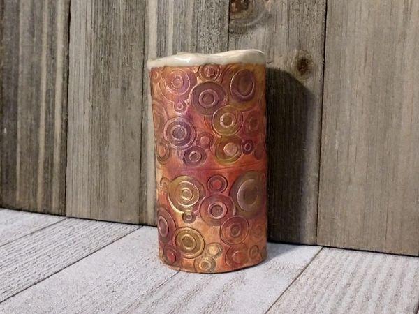 Hand Built Bloom Pottery Vase 9