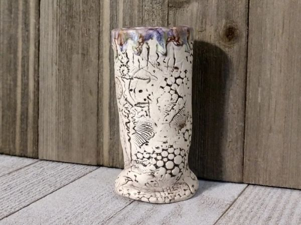 Hand Built Bloom Pottery Vase 12