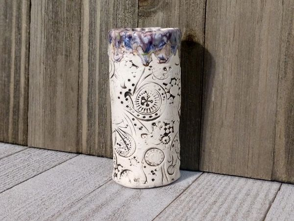 Hand Built Bloom Pottery Vase 18