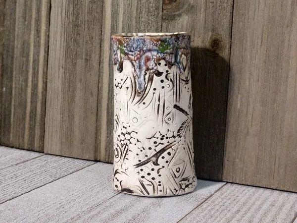 Hand Built Bloom Pottery Vase 19