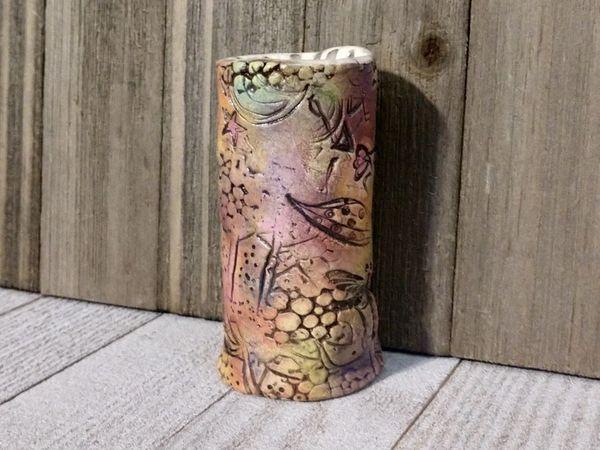 Hand Built Bloom Pottery Vase 20