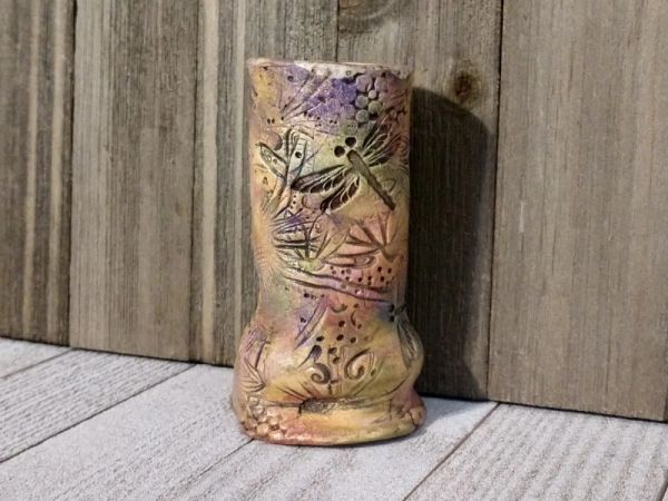Hand Built Bloom Pottery Vase 22