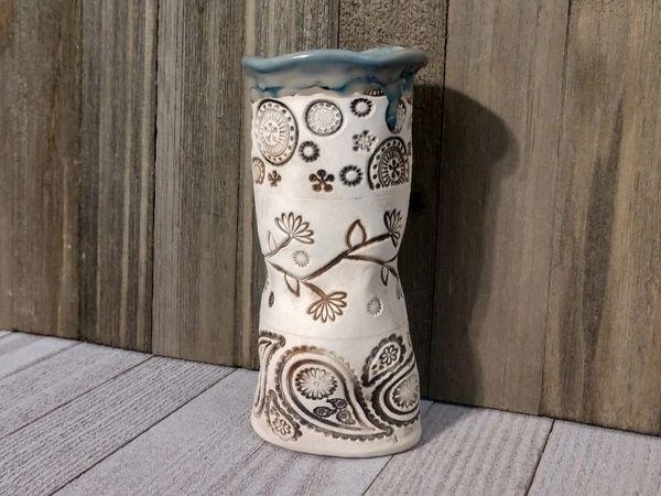 Hand Built Medium Pottery Vase 8