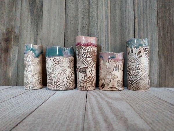 Hand Built Pottery Vase Assortment