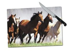 Horse Large Tempered Glass Cutting Board