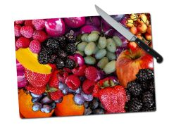 Fruit Large Tempered Glass Cutting Board