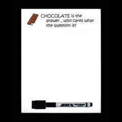 Chocolate Dry Erase Magnetic Message Board