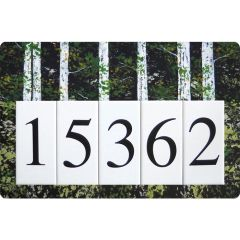 Birch Address Sign Large