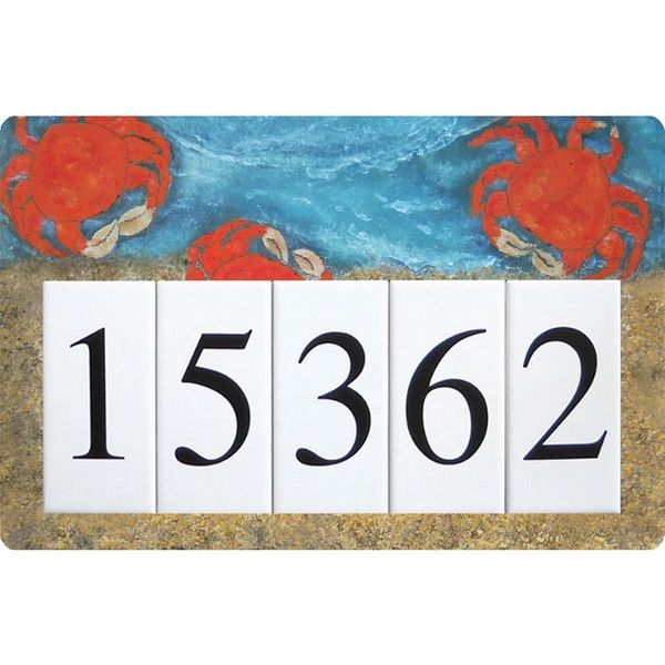 Crab Address Sign Large