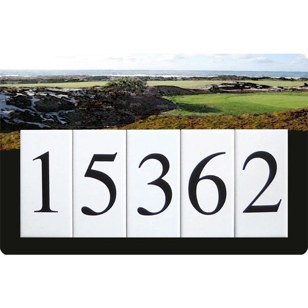Golf Address Sign Large