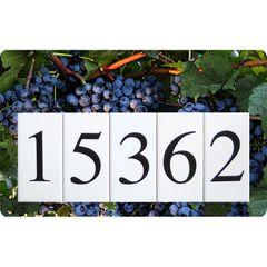 Grapes Address Sign Large