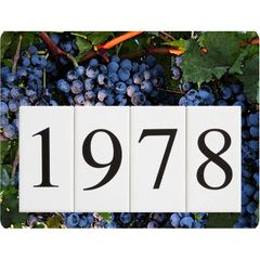 Grapes Address Sign Small