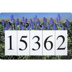 Lavender Address Sign Large