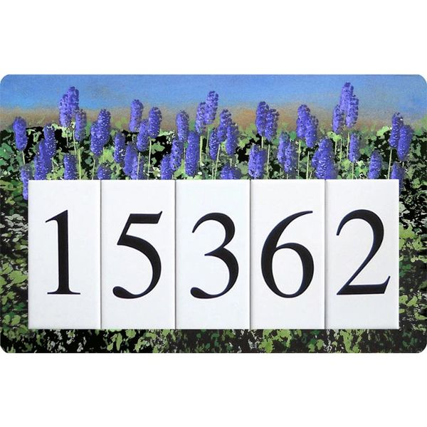 Lavender Address Sign Large