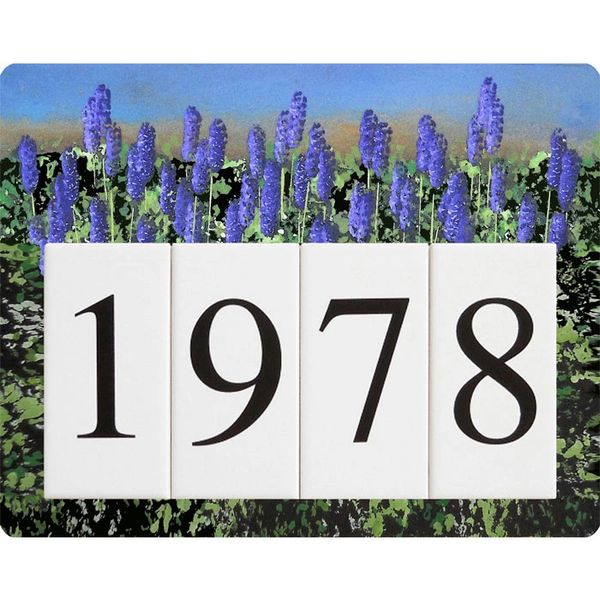 Lavender Address Sign Small
