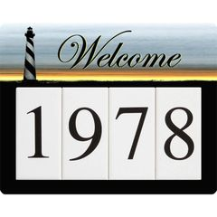 Lighthouse Address Sign Small