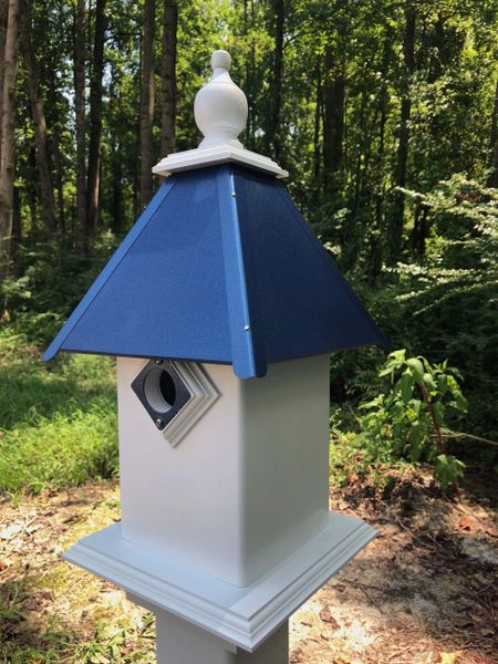 Classic Bluebird House-Premium Guard and Deluxe Finial