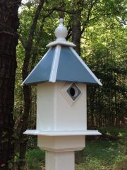 Classic Bluebird House-Verde Roof-Premium Guards-Deluxe Finial