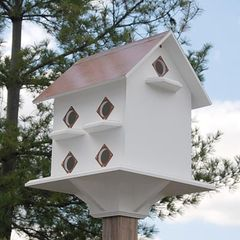 Purple Martin Mansion with Hammered Copper Painted Roof